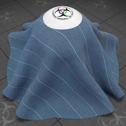 Cloth-Linen-Blue pencil stripe-JAM-01